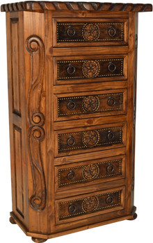 WESTON Chest with Cowhide
