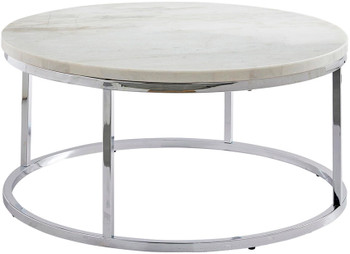 "WESTFORK White Marble 36"" Wide Coffee Table"