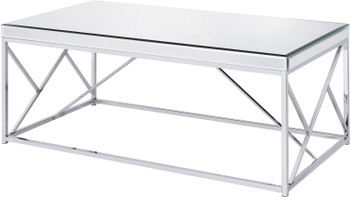 "WALTZER  Mirrored 47"" Wide Coffee Table"
