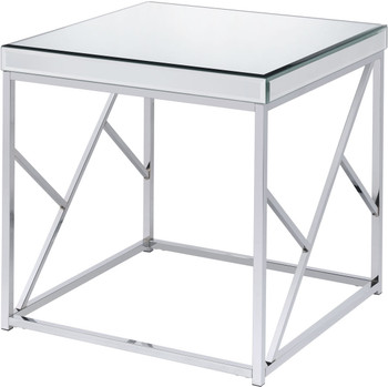 "WALTZER Mirrored 23"" Wide End Table"