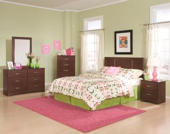 """LEONE Brown 48"""" Wide Dresser & Mirror"""