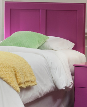 "LEONE Purple 45"" Height Headboard"
