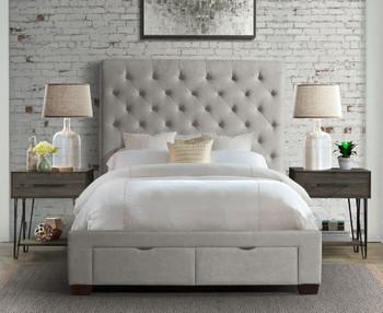 PAULA Gray Storage Bed
