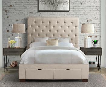 PAULA Beige Storage Bed