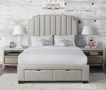 MARINKA Gray Storage Bed