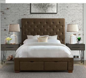 PAULA Brown Storage Bed