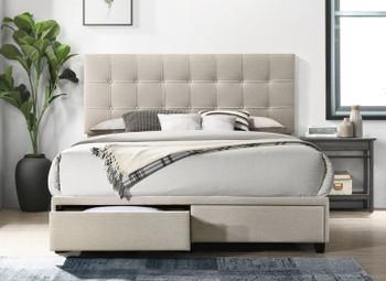 Kendall Beige Storage Bed
