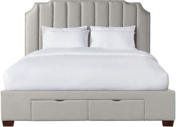 MARINKA Beige Storage Bed
