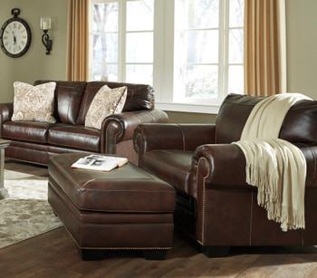 "Almeira 54"" Wide Leather Chair in a half"