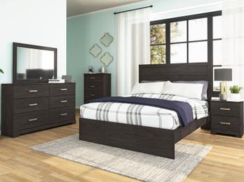 GATELL Charcoal Bedroom Set