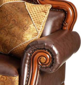 """ACKERLEY Leather 87"""" Wide Sofa"""