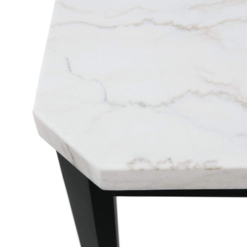 "VALERY White Marble 54"" Wide Squared Table"