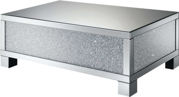 "ZARAH Mirrored 48"" Wide Coffee Table"