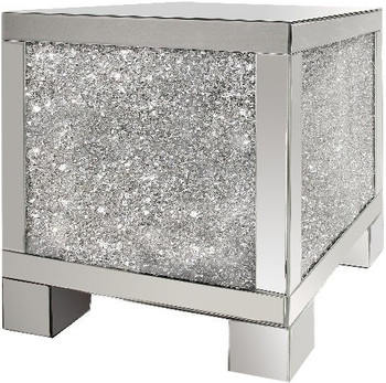 "ZARAH Mirrored 20"" Wide End Table"