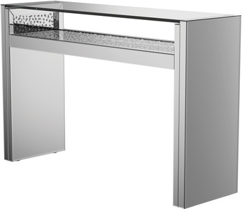 "BEDAZEL Mirrored 48"" Wide LED Sofa Table"