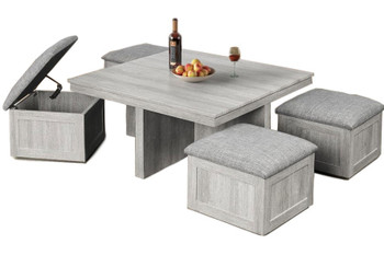 MARIANO Coffee Table with Stools