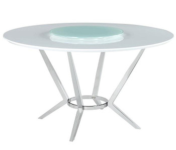 MELENA 5-PC Dining Set with Lazy Susan
