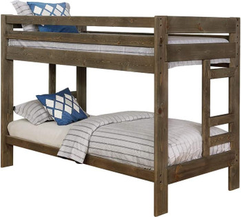 CHUCK Smoke Twin Bunkbed