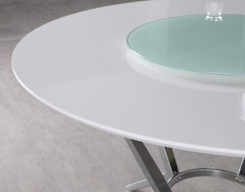 "MELENA 54"" Dining Table with Lazy Susan"