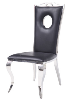 Baquet Keyhole Stainless Steel Dining Chair