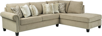 "SIANELLI Beige 117"" Wide Sectional"