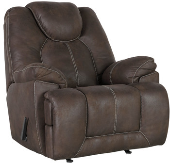 "WESTON 43"" Wide Coffee Rocker Recliner"