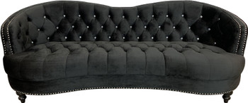 "AKIRA Black 92"" Wide Sofa"