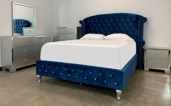 QUINTON Blue Bedroom Set