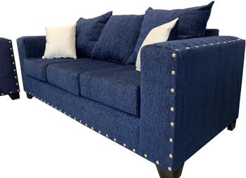 EXELLA Blue Sofa & Loveseat