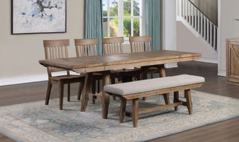 WILFRED 6 Piece Dining Set with Bench