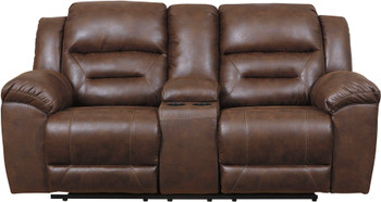 "PERSES Coffee 82"" Wide Reclining Loveseat"