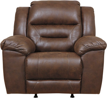 "PERSES Coffee 43"" Wide Rocker Recliner"