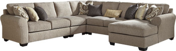 "LAGUNA HEIGHTS Taupe 135 x 130"" Sectional"