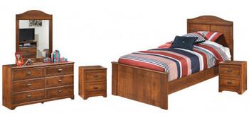HUBERT 5 Piece Panel Bedroom
