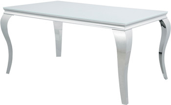 """LONDON White 61"""" Wide Dining Table"""