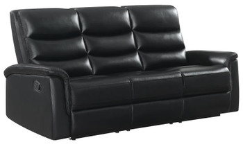 CISCO Black Reclining Sofa and Loveseat