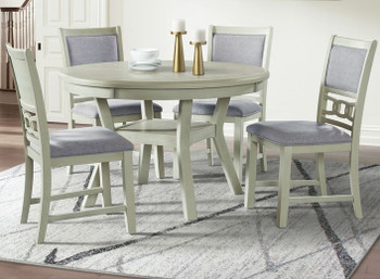 LABONZ Off-White 5 Piece Dining Set
