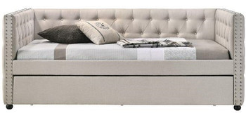 DACRE Beige Full Daybed with Trundle