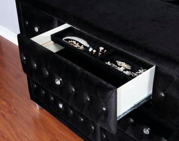 MELVA Black Bedroom Set