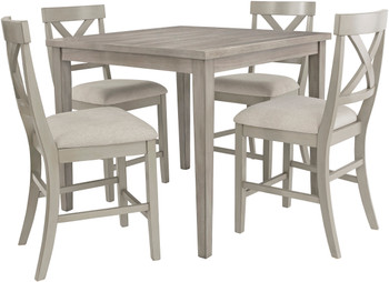 OMEKO 5 Piece Counter Height Set