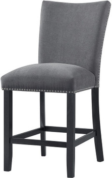 OLIVETTE Charcoal Counter Chair