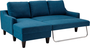 "JERICO Blue 84"" Wide Sectional Sleeper"