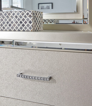 DEISS Silver 5 Drawer Chest