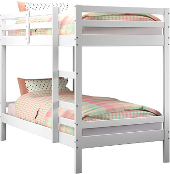 CLARY White Twin over Twin Bunkbed