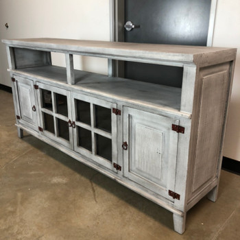 "ROCKWALL Gray 72"" Wide TV Stand"