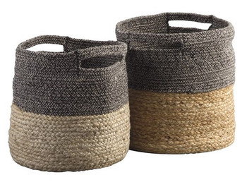 Natural & Jute Basket Set