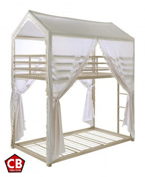 COSETTE Twin over Twin Canopy LED Bunkbed