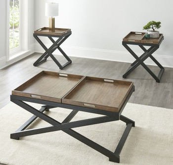 BECKETT 3 Piece Table Set with Trays