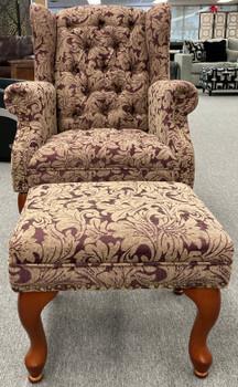 EDIS Arm Chair with Ottoman