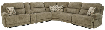BENNETT Power Zero Wall Reclining Storage Sectional with 3 Recliners